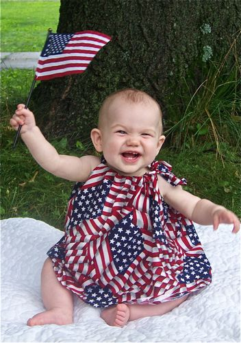 Baby with Exchange Flag